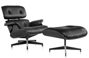 Fotel z podnóżkiem insp.  Lounge chair All black