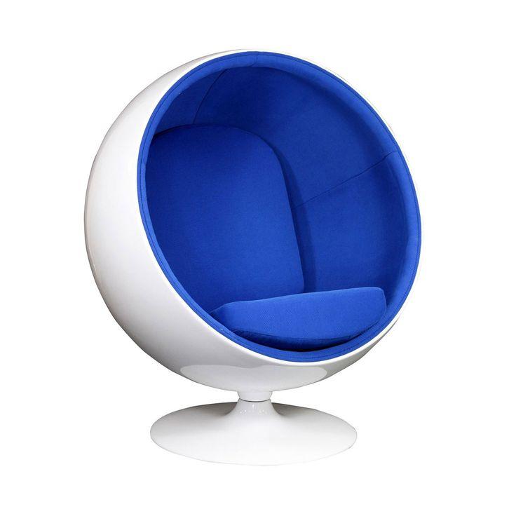 niebieski fotel kula