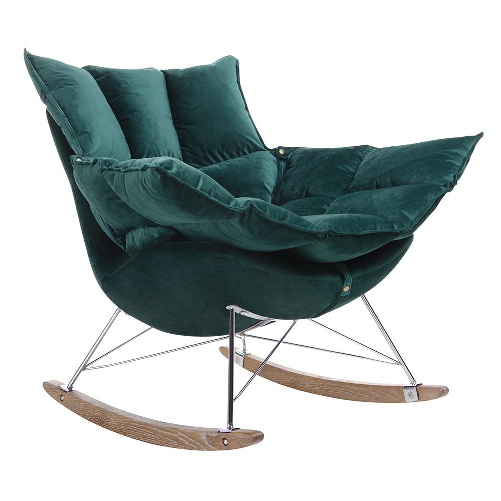 fotel swing w kolorze zielonym